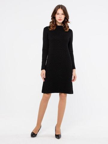 Фото шерстяное платье с длинными рукавами и оригинальным принтом - Платье З227а-245 (1)