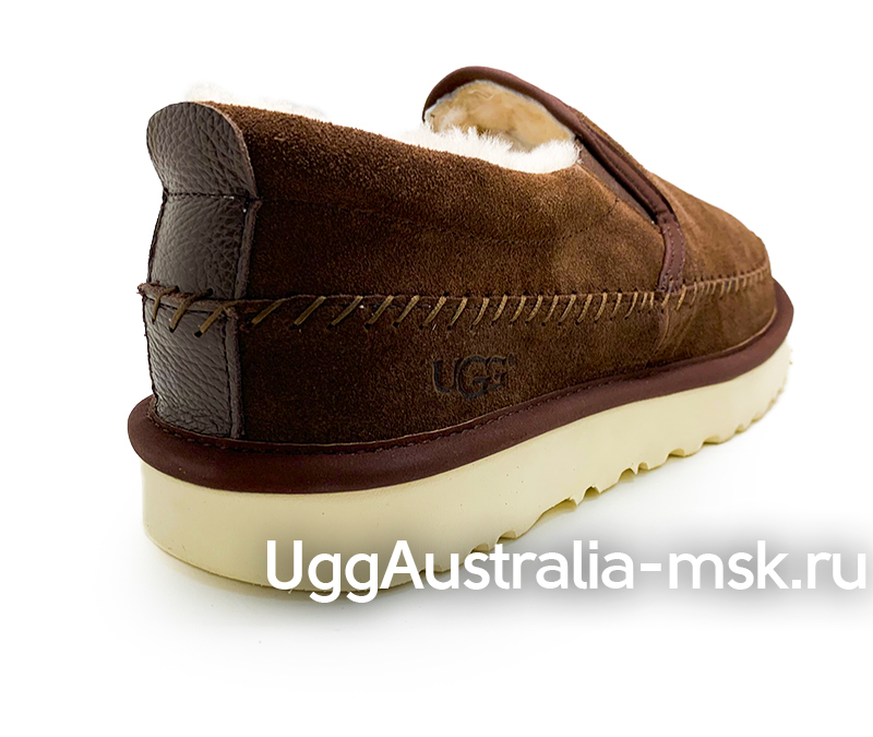 UGG MENS STITCH SLIP ON MEN CHOCOLATE