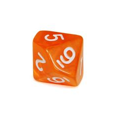 Куб D10 прозрачный: Оранжевый