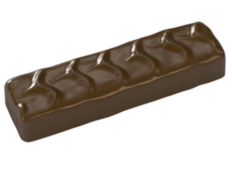 Поликарбонатная форма для шоколада - Батончик Арахисовая Карамель
