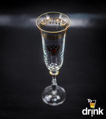 Подарочный набор из 2 хрустальных фужеров для шампанского «Министерский», 190 мл, фото 3