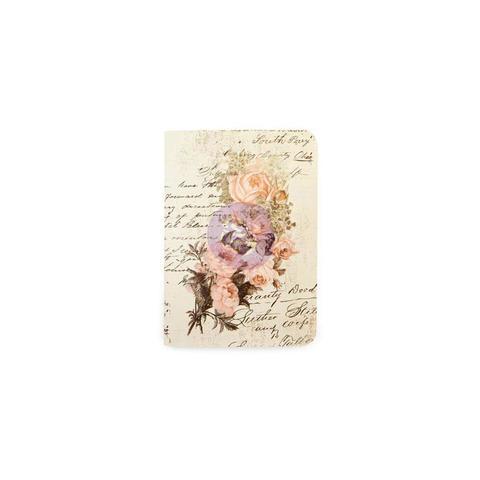 Внутренний блок (9х12,4 см) для блокнотов -Prima Traveler's Journal Passport Refill Notebook -Dusty Roses