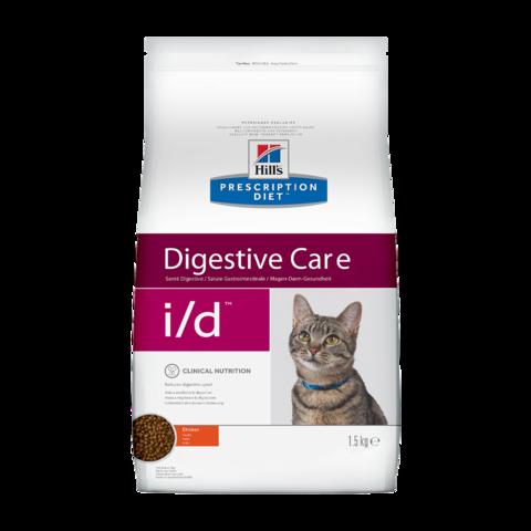 Hill's Prescription Diet i/d Digestive Care Сухой диетический корм для кошек при расстройствах пищеварения, жкт с курицей
