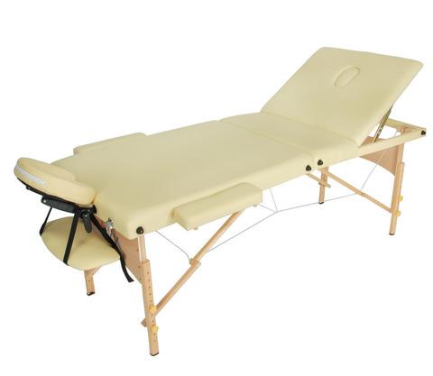 Массажный стол складной деревянный JF-AY01 три секции - фото