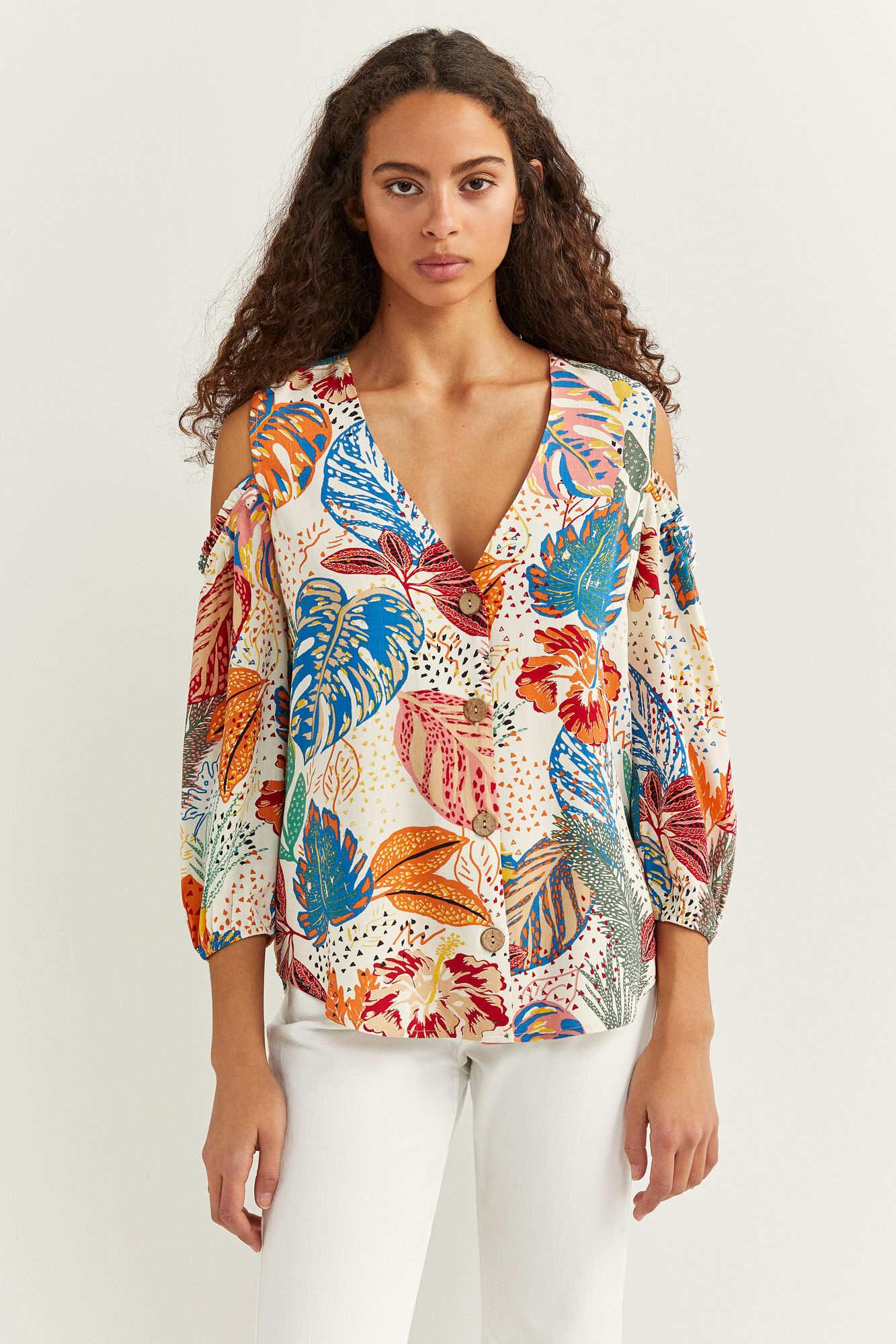 Блуза з принтом