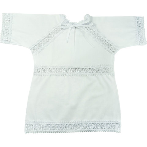 Крестильная рубашка с гипюром