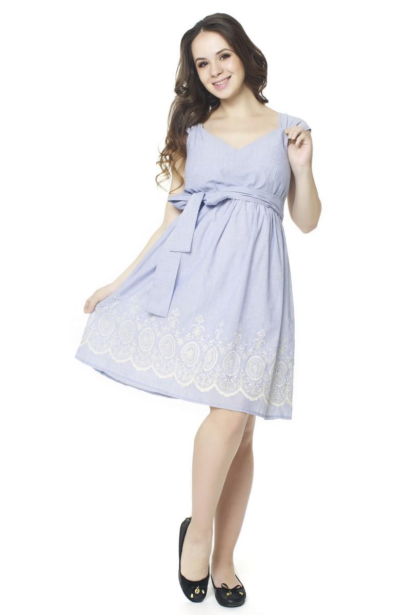 Платье для беременных 07548 голубой