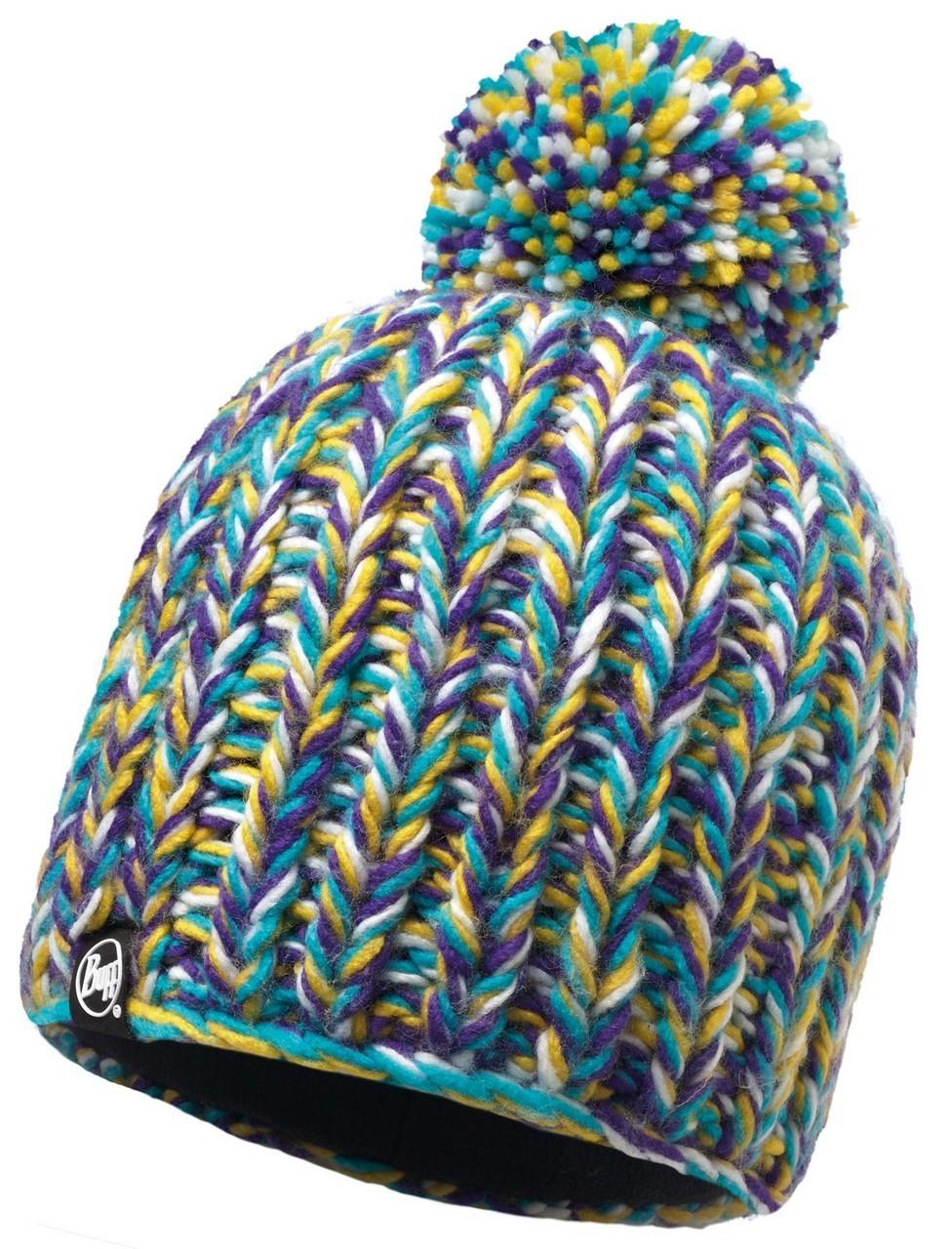 Шапки крупной вязки Вязаная шапка с флисовой подкладкой Buff Skyler Purple Raspberry 116014.620.10.00.jpg