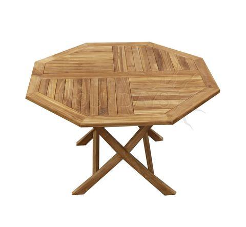 Садовый складной стол Sundays OCTAGONAL TGF-037 D, 120см, тик