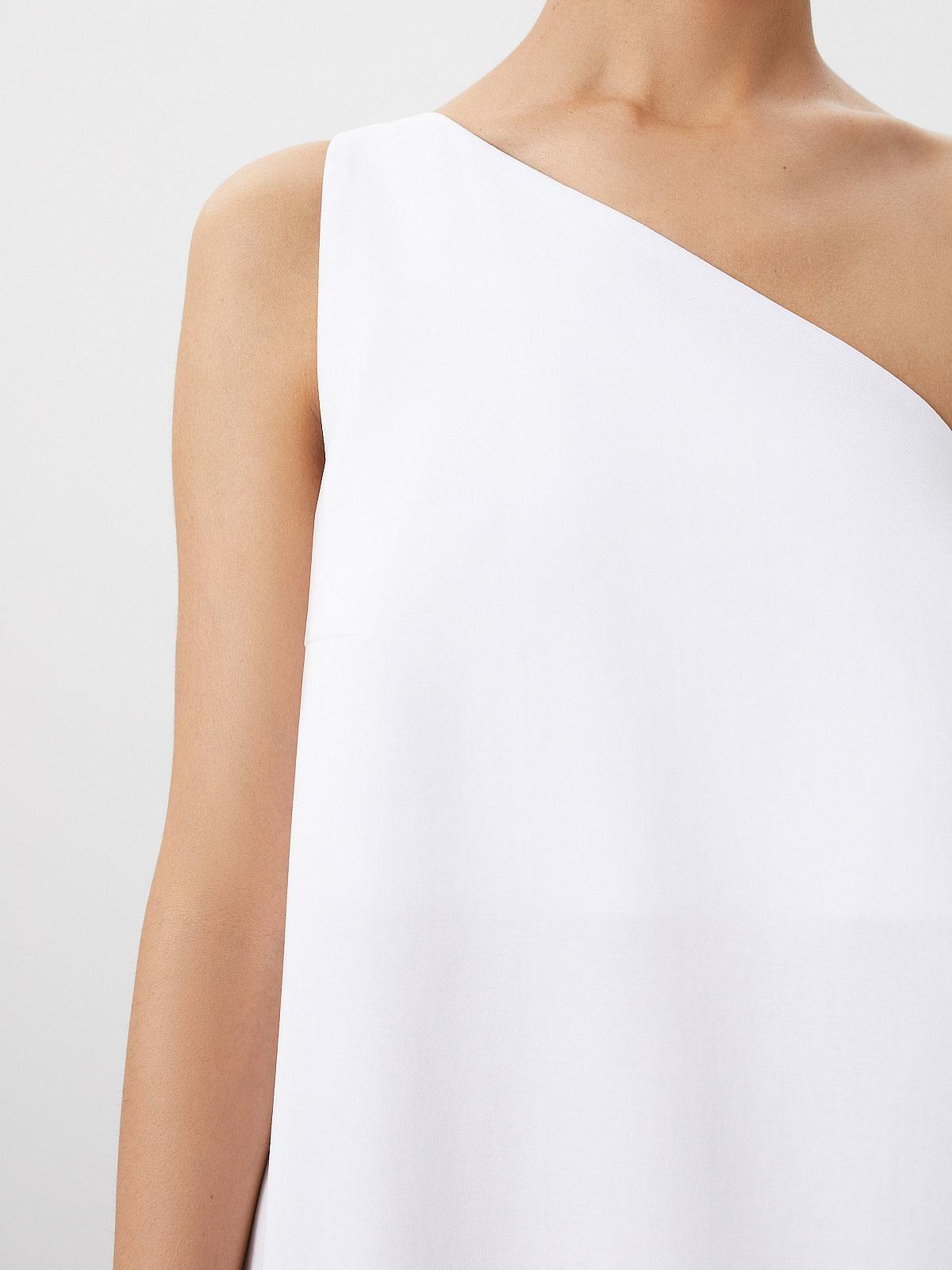 Платье Edven на одно плечо, Белый