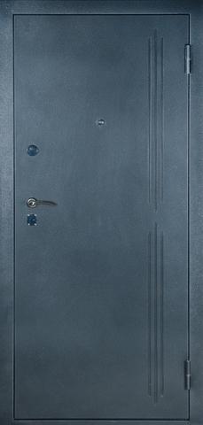 Дверь входная Рубин 2 стальная, тиковое дерево, 2 замка, фабрика Алмаз