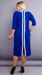 Вивиан. Оригинальное платье больших размеров. Электрик.