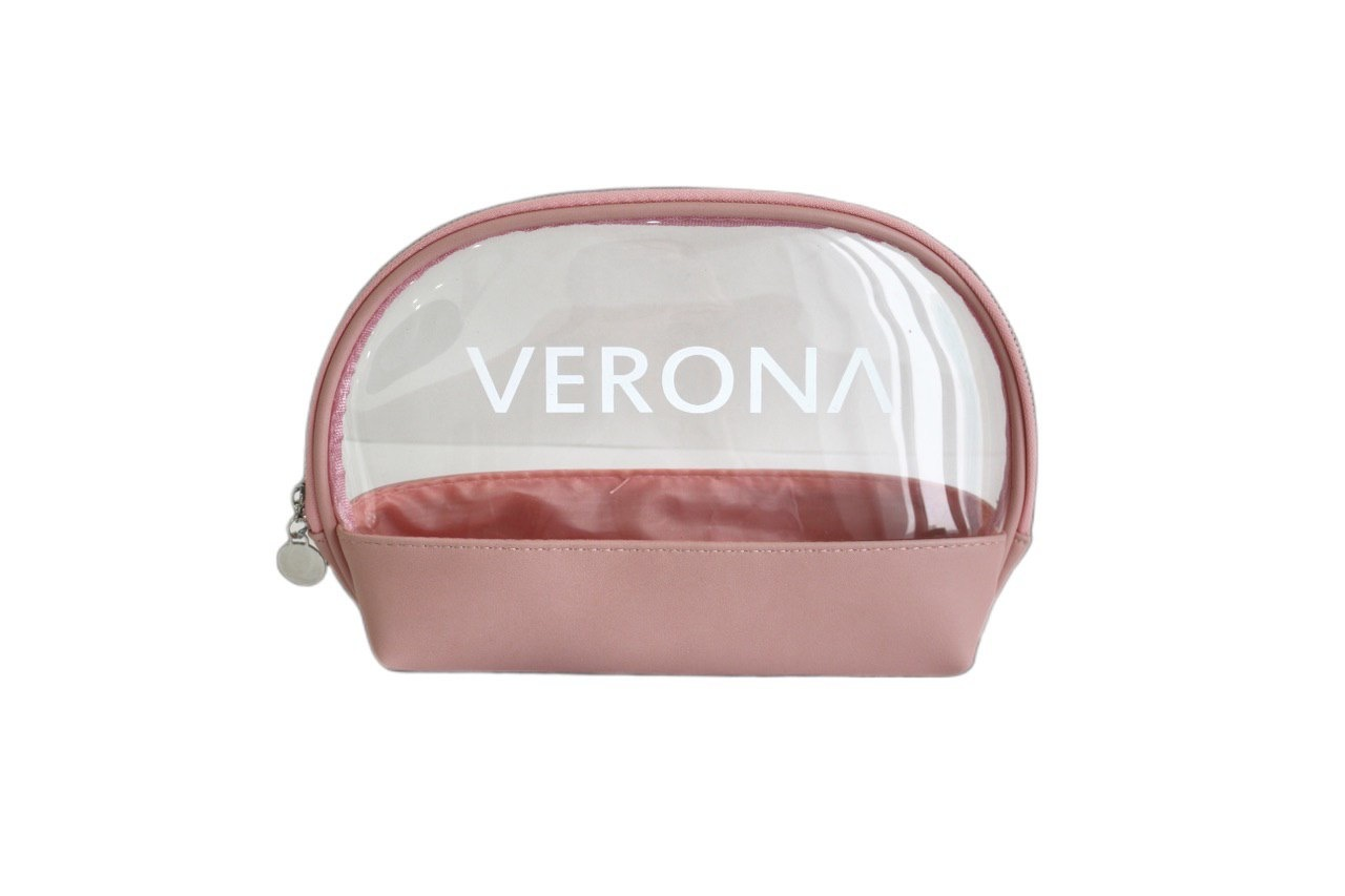 Косметичка Verona Розовая двойная