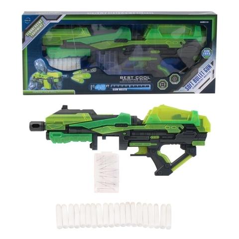 Мегабластер Jumbo 201053 Best Cool Зеленый c мягкими пулями
