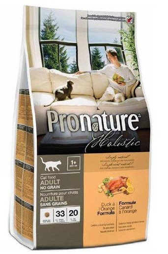 Pronature Беззерновой корм для взрослых кошек, Pronature Holistic, с уткой и апельсином 102.2022.jpg