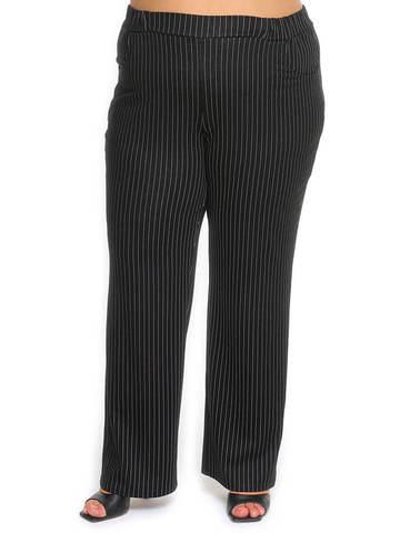 Прямые брюки в полоску