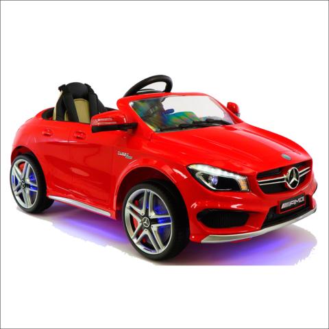 Детский электромобиль Мерседес Mercedes Benz CLA45 A777AA с пультом управления красный