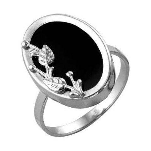 Кольцо с стеклом и серебрением