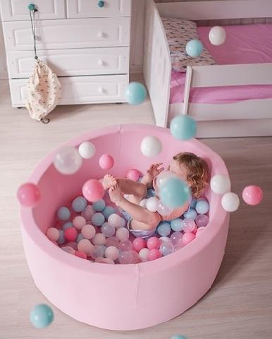 Сухой бассейн Anlipool 100/40см Розовый  комплект №5