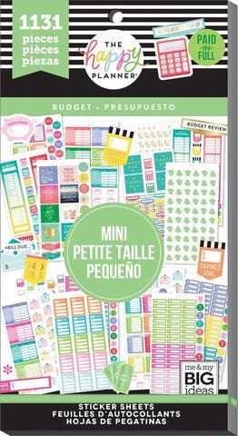 Блокнот со стикерами для ежедневника Create 365 Happy Planner Sticker Value Pack-BIG - BUDGET - 1131 шт