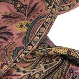 Шарф из кашемира и шелка. Цвет зеленый/розовый/коричневый ETRO