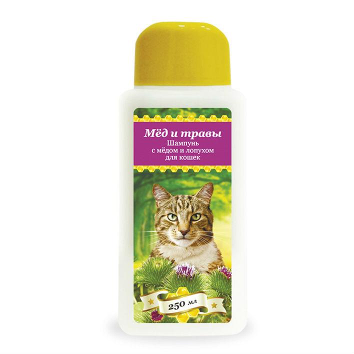 купить  Пчелодар гигиенический шампунь с мёдом и лопухом для кошек