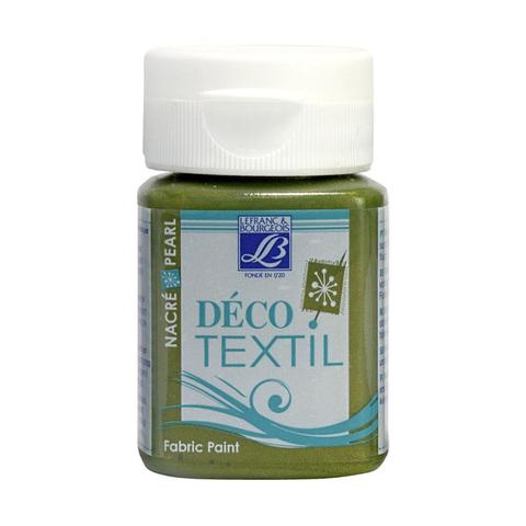 Краска по ткани Lefranc&Bourgeois DECO TEXTIL 50 мл 748, перламутровый зеленая бронза