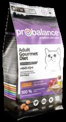 Корм ProBalance Gourmet Diet для взрослых кошек с говядиной и кроликом