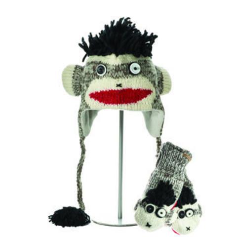 Картинка шапка с ушами Knitwits Punk Rock Sock Monkey