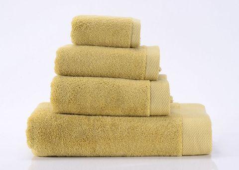 Seashells-7 горчичное  махровое  полотенце Valtery