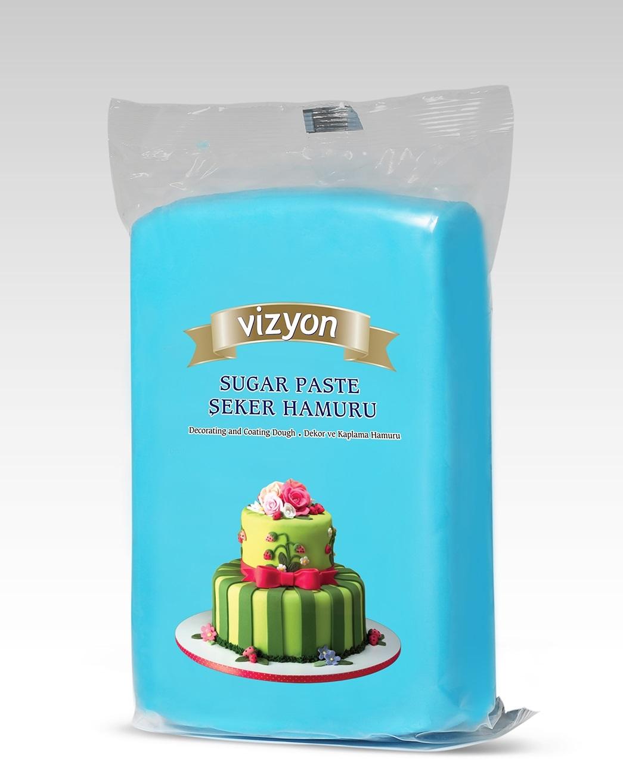 Мастика сахарная голубая Vizyon