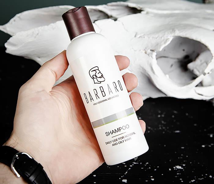 RAZ1016 Мужской шампунь для нормальных и жирных волос Barbaro (220 мл) фото 05