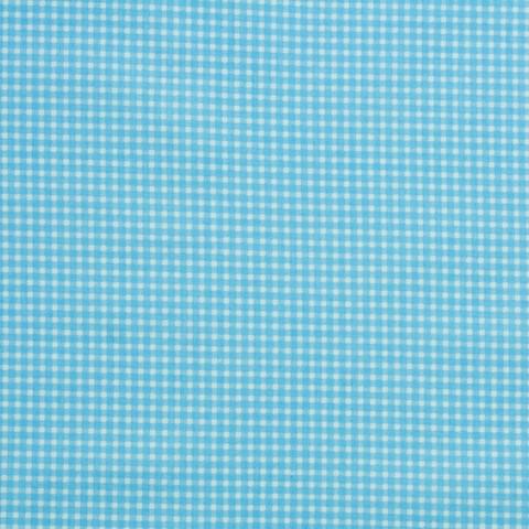 Ткань хлопковая голубая клетка