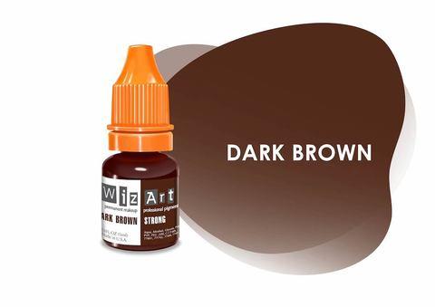 Dark Brown (темно-коричневый холодный) • Wizart Strong • пигмент для бровей