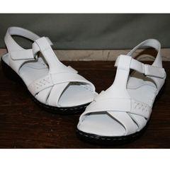 Кожаные женские сандали Evromoda 15 White.