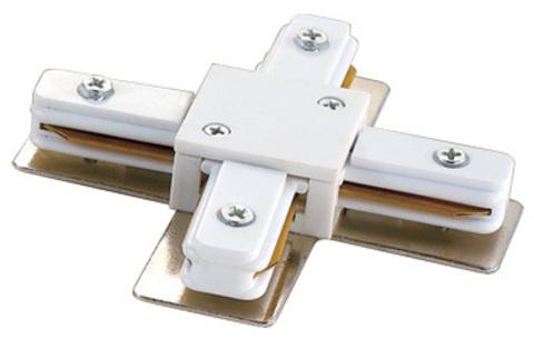 UBX-Q121 K41 WHITE 1 POLYBAG Соединитель для шинопроводов Х-образный. Цвет — белый. Упаковка — полиэтиленовый пакет.