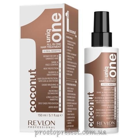 Uniq ONE ALL IN ONE HAIR TREATMENT - Маска-спрей для волос с ароматом кокоса