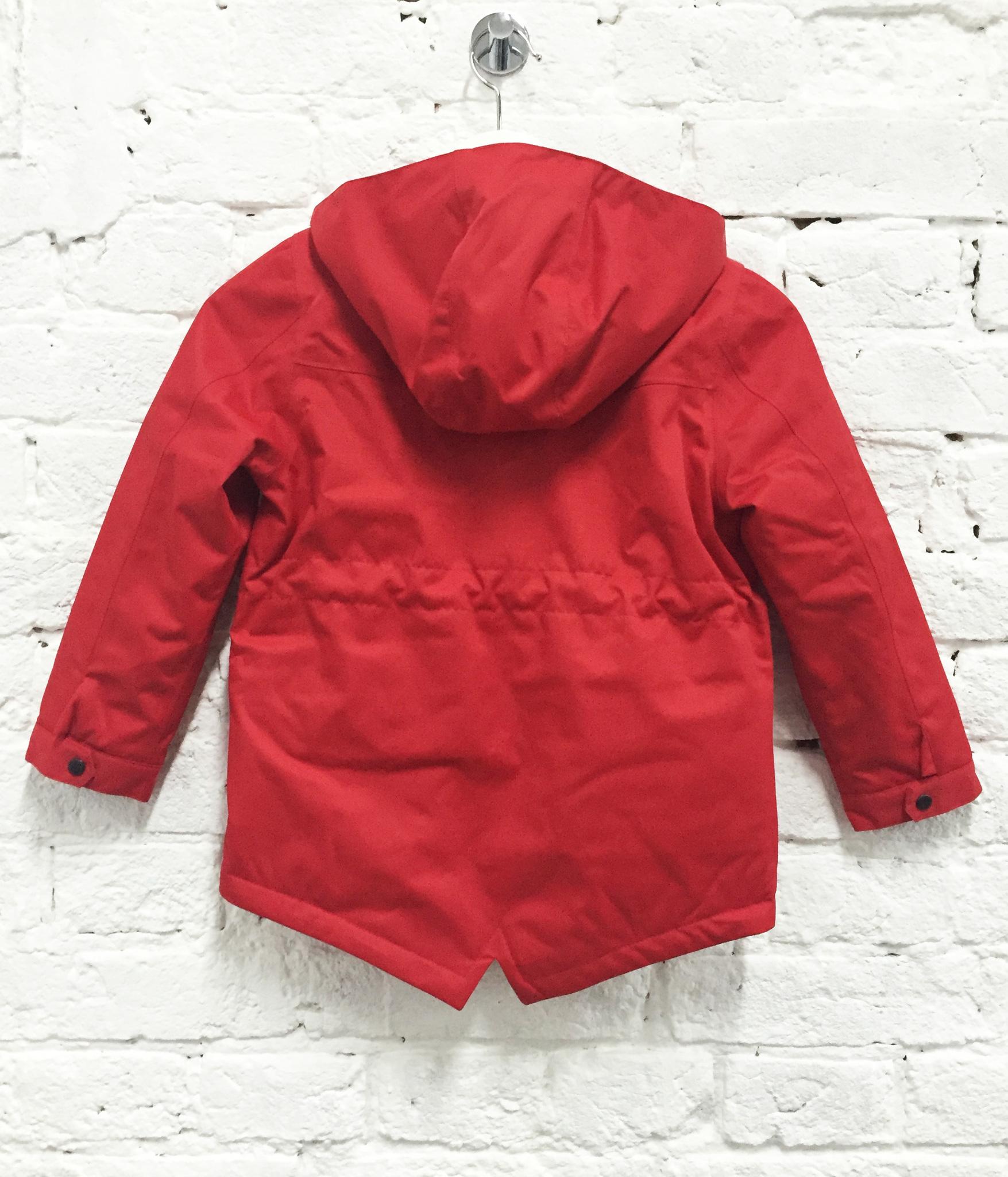 парка куртка детская весенняя теплая SASHA JUNIOR цвет рэд красный