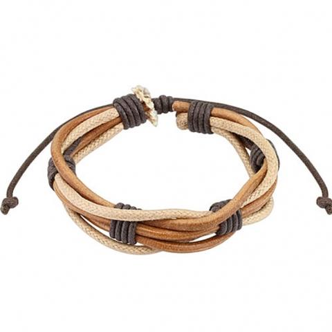 Мужской браслет из натуральной кожи SPIKES SL0182-BE+
