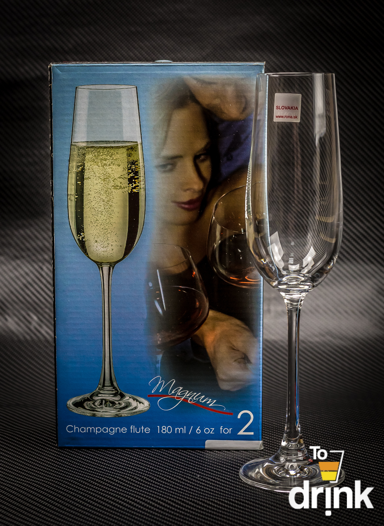 Набор из 2 бокалов для шампанского Magnum, 180 мл