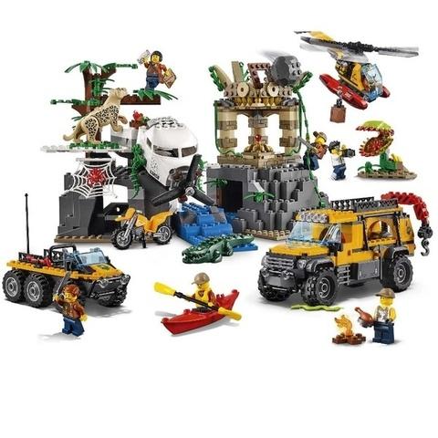LEGO City: База исследователей джунглей 60161 — Jungle Explorers Jungle Exploration Site — Лего Сити Город