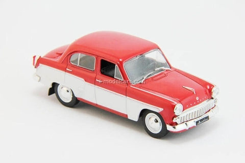 Moskvich-407 red-white 1:43 DeAgostini Auto Legends USSR #204