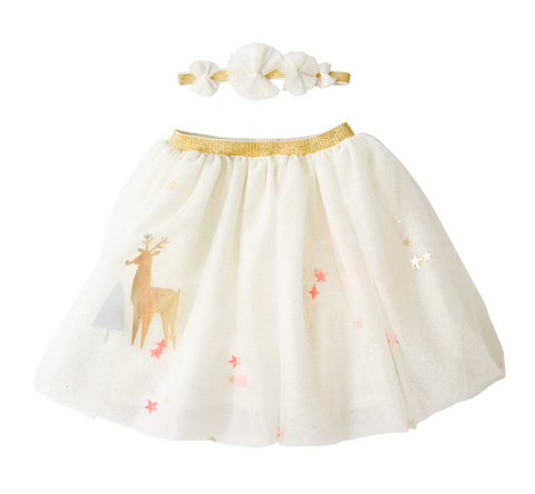 Рождественская юбка и ободок