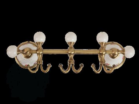 Планка с тремя крючками Migliore Provance ML.PRO-60.539 керамика с декором
