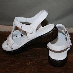 Женские кожаные сандали Evromoda 15 White.