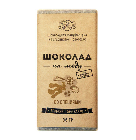 Шоколад на меду со Специями 90 г.