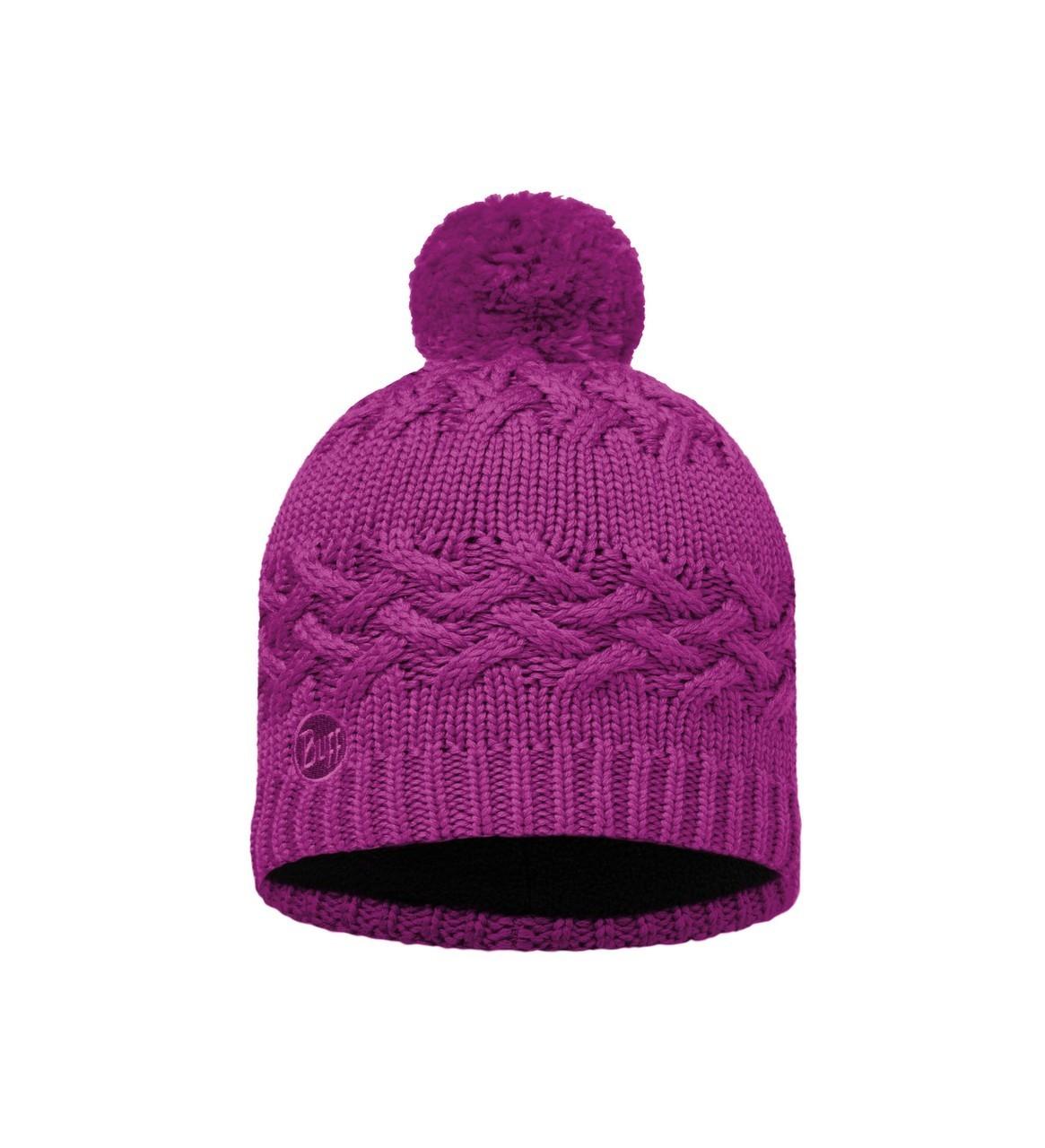 Шапки крупной вязки Вязаная шапка с флисовой подкладкой Buff Savva Mardi Grape 111005.617.10.00.jpg