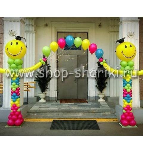 арка из шаров на выпускной