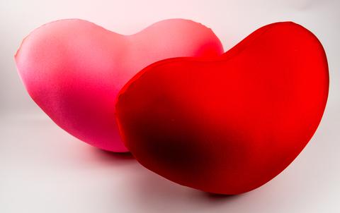 Подушка-игрушка антистресс «Большое красное сердце» 4