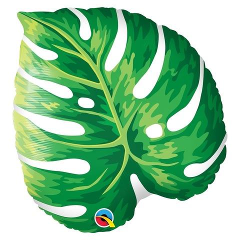 Воздушный шар Лист зеленый тропический, 53 см